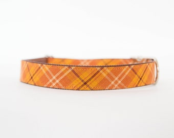 Dog Collar - Pumpkin Plaid