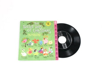 Vintage Record - Twelve Days of Christmas - Little Golden Records 45 RPM - Children's Vinyl Record Xmas