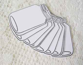 Mason Jar Tags – 2.75 Inch Medium Mason Jar Gift Tags – Packaging Tags – Blank Tags – Rustic Gift Tags –DIY Tags - Homemade Gift Tags