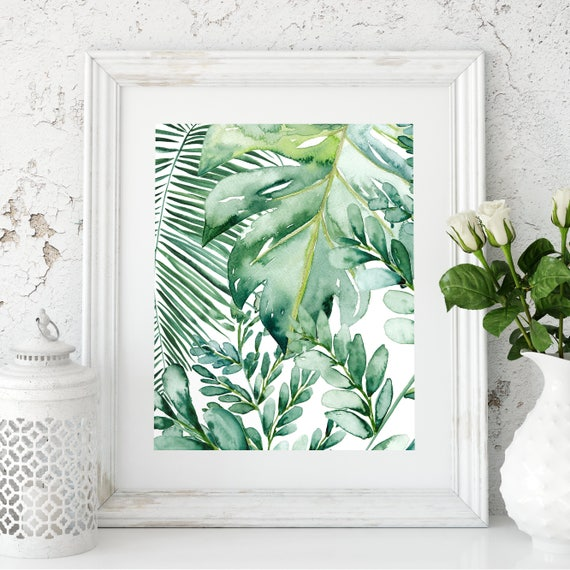 Banana Leaf Wall Art Banana Leaf Decor Palm Leaf Art Print