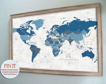 World map push pin world map world map wall art rustic wall framed world map push pin map world map pin board artistic map world gumiabroncs Gallery