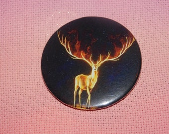 CLEARANCE, Seconds stock, Stag 58mm Needle Minder, Licensed, Cross Stitch Keeper, JoJoes Art, Fridge Magnet, Button Magnet, Pin Holder