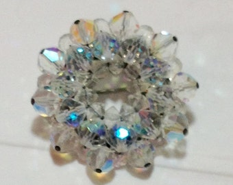 Cool Vintage Lucite Bead Pin