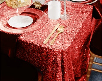 Merveilleux Christmas Sequin Red Table Cloth | Sparkly Red Table Decor For Christmas  Party Celebration Dinner Valentineu0027s Day Decoration | READY TO SHIP