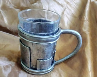 "Forged glass-holder (cup holders) ""Patch"" for tea and beer."
