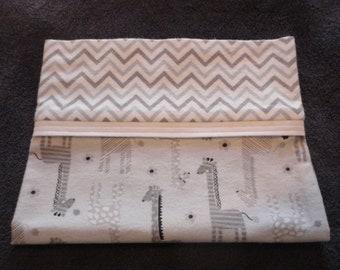 Giraffe Flannel Pillow Case
