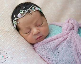 newborn headband - baby princess headband - flower girl headband - baby shower gift - fairy headband - birthday headband - easter headband
