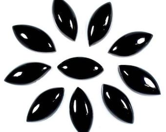 10-P Wholesale Lot Of Natural Black Onyx Marquise shape cabochon