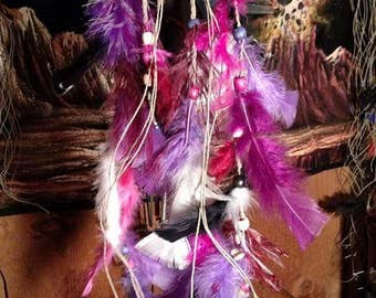 Handmade custom or pre-made  hemp and the dye dream catchers.