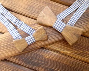 Wood bow tie Christmas gift Father son bow tie set Wood gift set Dad son gift Family Cute tie Gift for dad Daddy Son Father gift Holiday tie