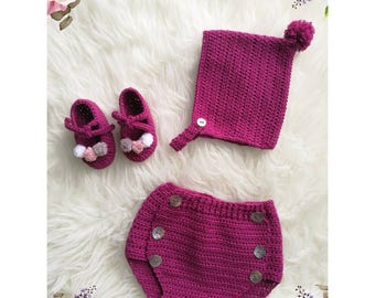 Baby set. New born set Crochet