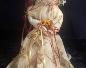 Woodland Bride Art doll