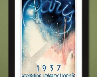 Art Deco International Exposition Paris Poster 1937 (12x18 Heavyweight Art Print)