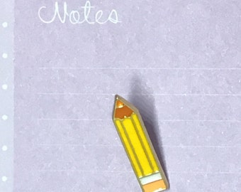 Cute pencil enamel pin