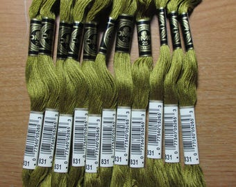 Lot of 5 Skeins DMC Floss # 831