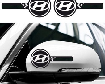 2x HYUNDAI Custom Wing Mirror Side Body Decals   Coupe I10 I20 I30 I40 Ix35  Tucson