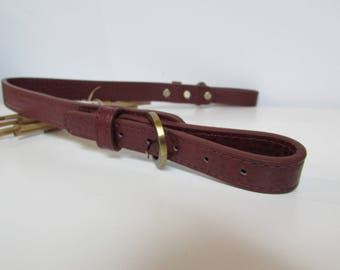 Bag handle in faux leather shoulder bag handle adjustable from 47 to 54 cm - Brown, red brown - 92