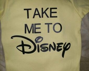 Baby shirt 18-24 months: Take me to Disney