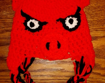 Razorback, Crochet, Hat, Arkansas