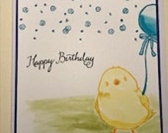 Happy Birthday Chick Greeting Card