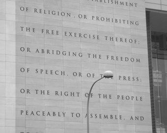 US Constitution first amendment News Museum Photo Washington DC