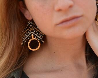 Viking Macrame earrings, high fashion style
