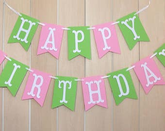 Happy Birthday banner, Birthday sign, Personalized birthday banner, Happy Birthday decorations, flag banner, Customized banner, Name sign