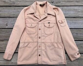 WRANGLER WRAPID TRANSIT Vintage 70's Black Label Tan Corduroy Jacket Men's L
