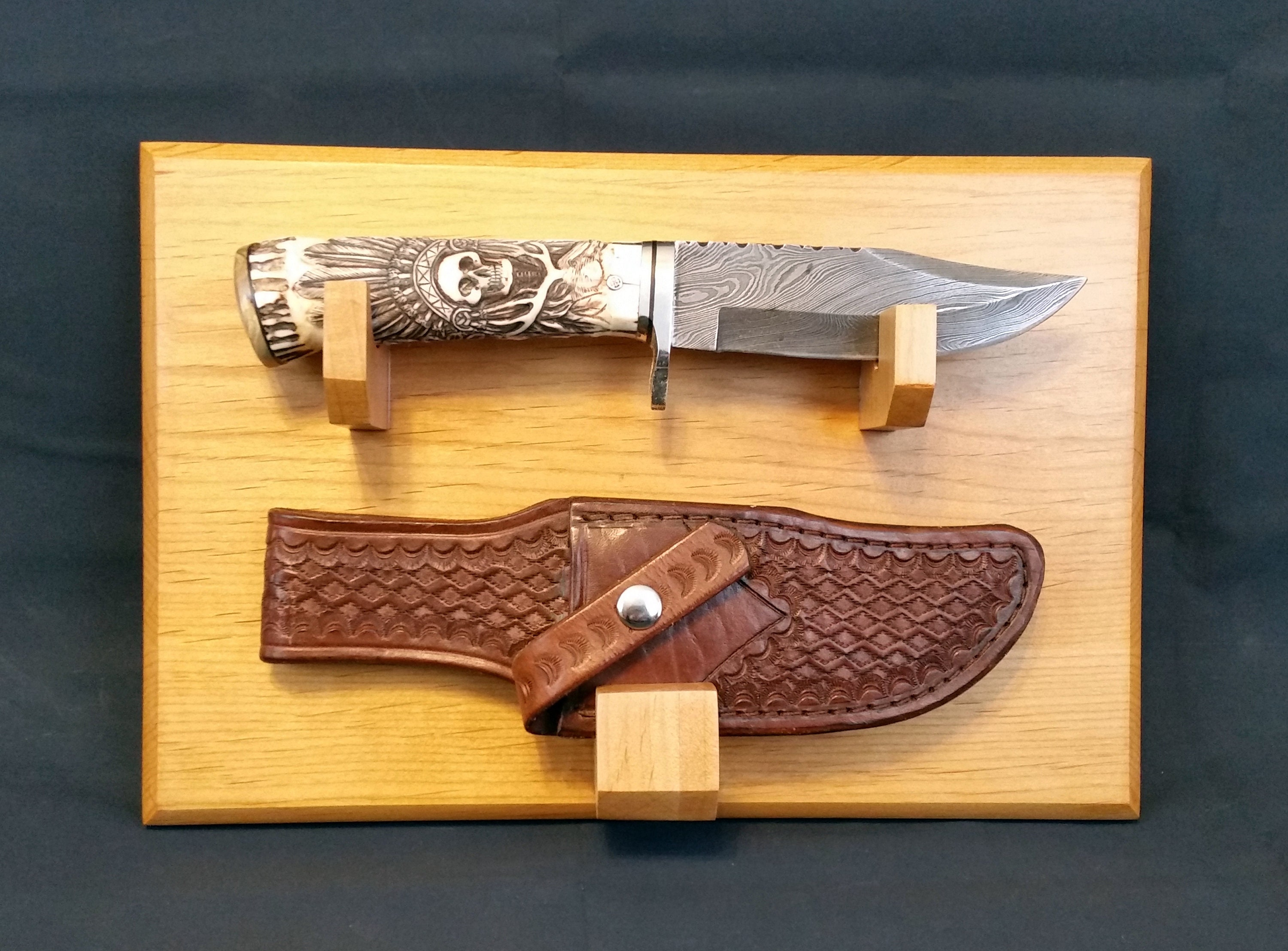 Made to Order Knife / Sheath Display Stand Wall mount Made