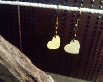 Earrings capsule * hearts * white