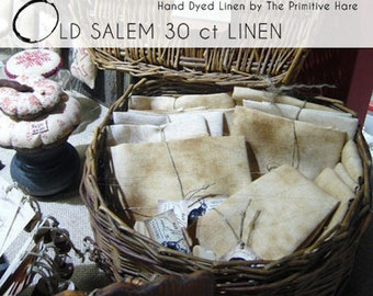 Linen: LG Cut - Old Salem 30 count Hand Dyed, from the Primitive Hare
