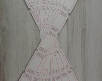 Blank Raffle Ticket - White