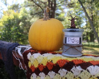Halloween Homemade 2-wick Candle- Dead Woods: Autumn Breeze and Sweet Leaves