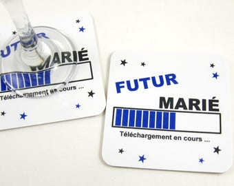 Table decoration EVJH gift future groom Deco table EVJG coaster coaster young man magnet wedding bachelor party