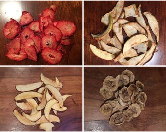 Organic  Four Types Of Dried Fruits VALUE PACK For Rabbits, Guinea Pigs, and Small Animals