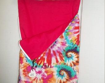 tie dye doll sleeping bag