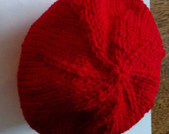 Little Red Knitted Kid's Hat