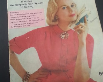 Simplicity Sewing Book Vintage Simplicity Unit System of Sewing Construct Jacket Dress Shirt Blouse Drapes Curtains