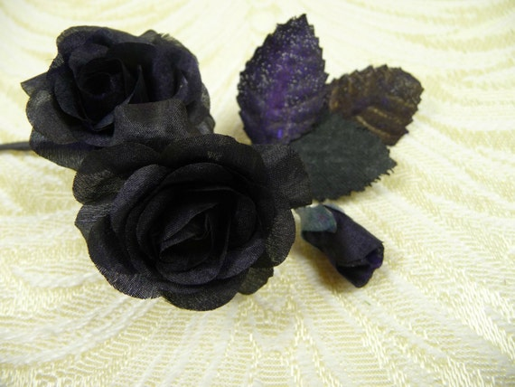 Tiny black roses vintage millinery with bud nos small silk flowers tiny black roses vintage millinery with bud nos small silk flowers for dolls crafts 4fv0188bk from apinkswan on etsy studio mightylinksfo