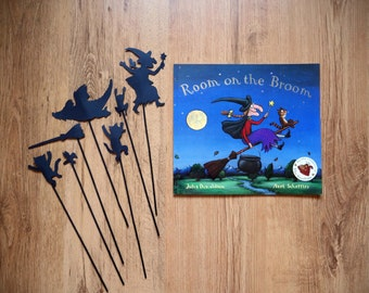 Room on the Broom Storytime Shadow Puppets Hand cut