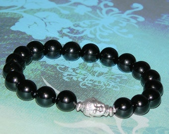 "Buddha Black Onyx ""Healing and Protection"" Bracelet"