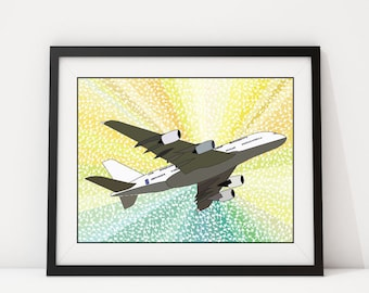 AirplaneIsh: Airplane Wall Art, Airplane Art, Airplane Print, Airplane Decor, Wall Art, Airplane, Pop Art, Arrow, Wall Decor