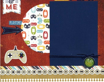 Let's Play - 12x12 Premade Scrapbook Page