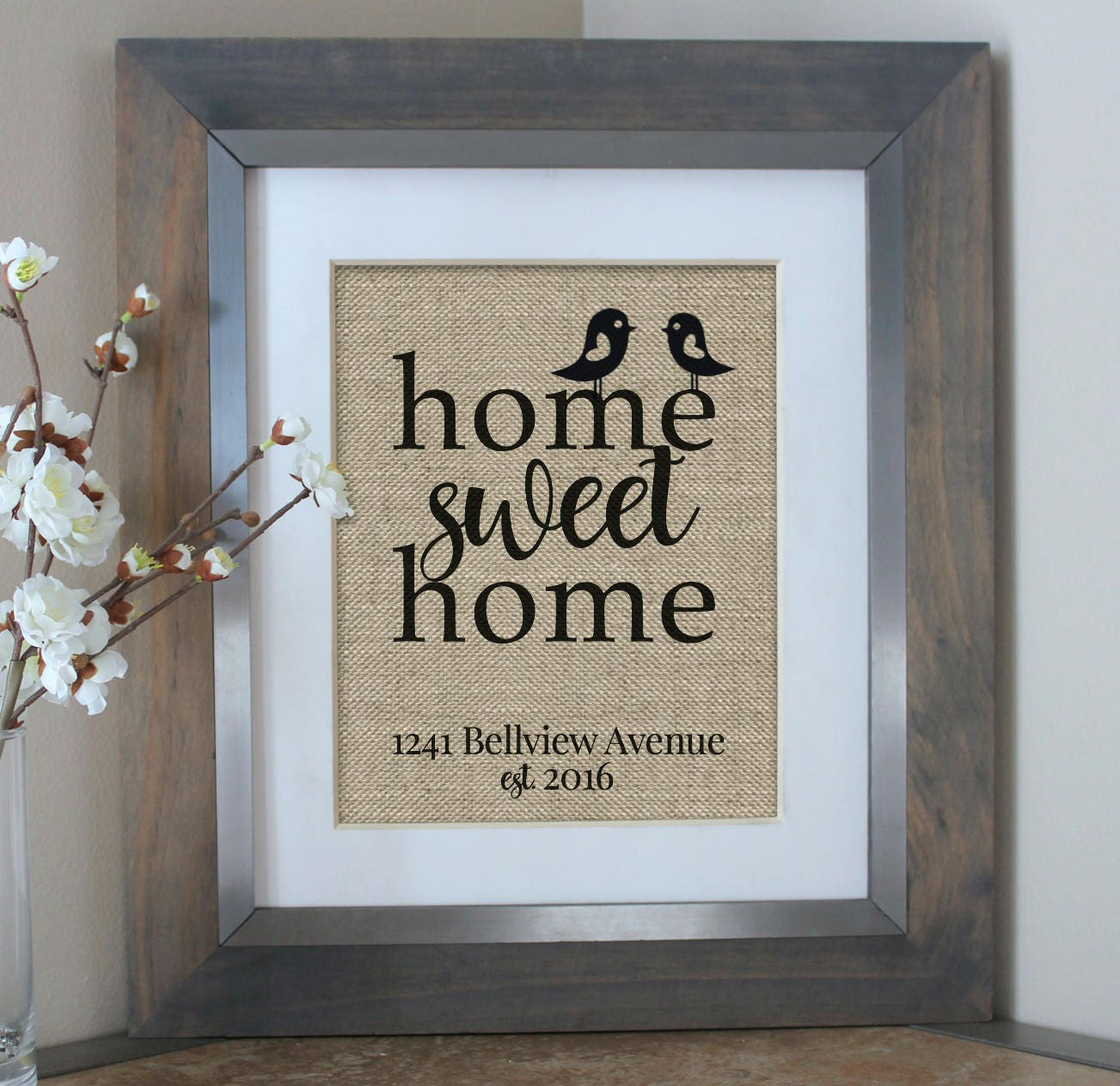 Personalised Home Is Where New Home Gift Print By: Personalized Address Sign House Warming Gift New Home