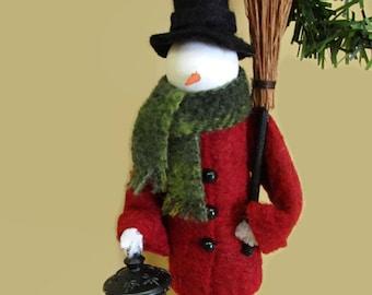 Snowman Christmas Ornament, Dressed Warm Snowman, Clothespin Ornament, Peg Doll, Ornament Exchange, Secret Santa, for Snowman Collector