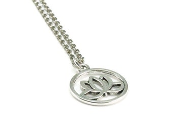 SALE Lotus Flower Necklace