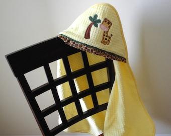 safari child gift giraffe hooded towel many colors