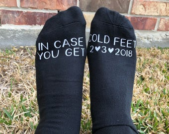 Groom Socks, Wedding Day Socks, Cold Feet Socks, Groom Gift, Grooms Socks, Groom Sock Gift, Groom Cold Feet, Gift for Groom, Groom Gifts
