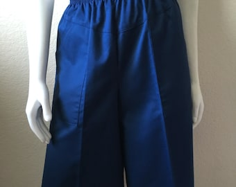 Vintage Women's 80's Navy Blue Shorts, High Waisted by Valerie (M/L)
