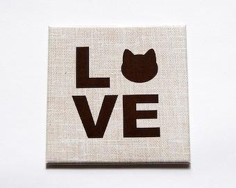 Love Cats Magnet, Kitchen Magnet, Fridge magnet, Magnet, Gift for cat lover, Cat Fridge Magnet, Cat Lover, Cat Magnet, Loves Cats (5524)